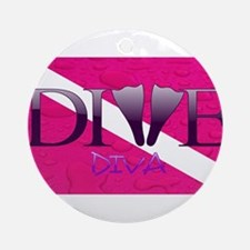 Dive Diva Fins Ornament (Round)