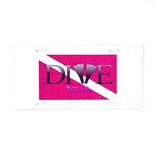 Dive Diva Fins Aluminum License Plate
