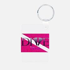 Dive Diva Fins Keychains