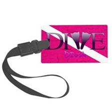 Dive Diva Fins Luggage Tag