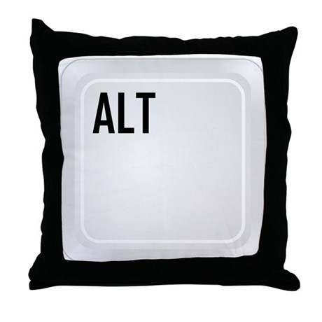 ALT (top corner) Throw Pillow