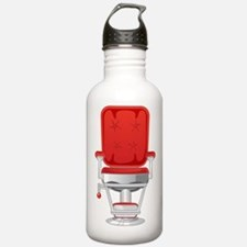 Barber's Chair Barber Shop Water Bottle