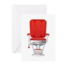Barber's Chair Barber Shop Greeting Cards (Pk of 2