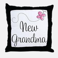 New Grandma Butterfly Throw Pillow
