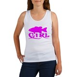 Fishing girl Women's Tank Tops