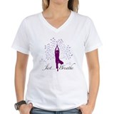 Yoga Womens V-Neck T-shirts