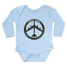 B-52 Peace Sign Long Sleeve Infant Bodysuit