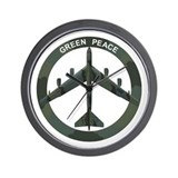 B 52 peace the old fashioned way Wall Clocks