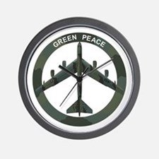 B-52 Peace Sign Wall Clock