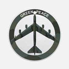 B-52 Peace Sign Ornament (Round)