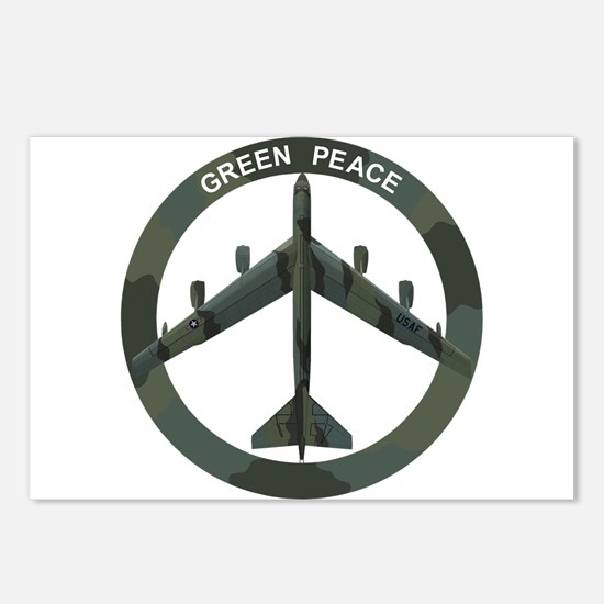 B-52 Peace Sign Postcards (Package of 8)