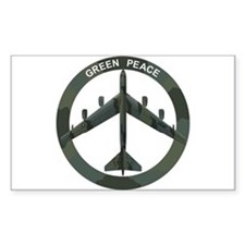 B-52 Peace Sign Decal