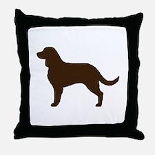 American Water Spaniel Throw Pillow