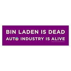 Purple Bin Laden is dead Bumper Sticker