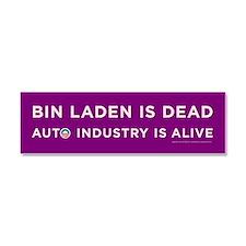 Purple Bin Laden is dead Car Magnet 10 x 3