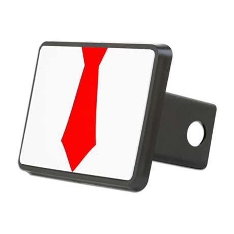 Red Tie.png Rectangular Hitch Cover