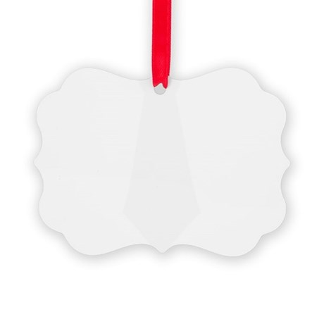 White Tie.png Picture Ornament