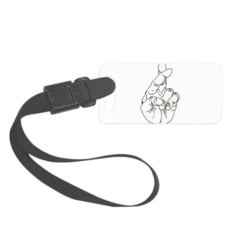 Fingers Crossed.png Small Luggage Tag