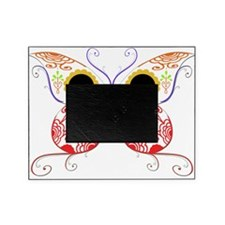 Sugar Skull Multi Color Butterfly 5.png Picture Frame