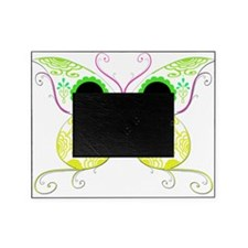 Sugar Skull Multi Color Butterfly 4.png Picture Frame