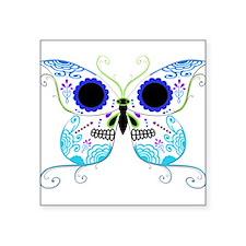 Sugar Skull Multi Color Butterfly 3.png Square Sti