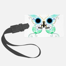 Sugar Skull Multi Color Butterfly 2.png Luggage Tag