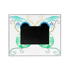Sugar Skull Multi Color Butterfly 2.png Picture Frame
