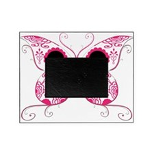 Sugar Skull Pink Butterfly.png Picture Frame