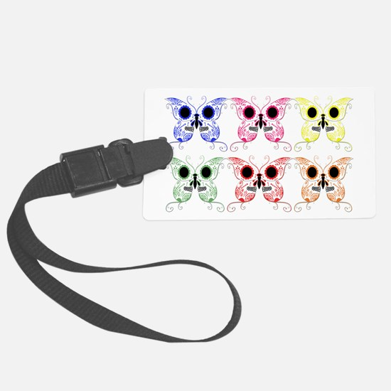 Sugar Skull Butterfly Display.png Luggage Tag