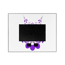 Sugar Skull White Purple Owl.png Picture Frame