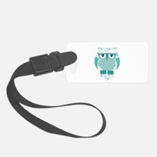 Winter Snow Owl.png Luggage Tag