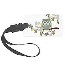 Polka Tree Owl.png Luggage Tag