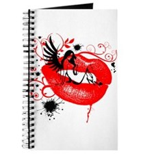Winged Woman Sitting on Lips Journal