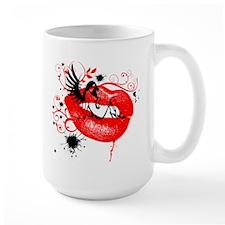 Winged Woman Sitting on Lips Mug