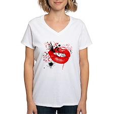Winged Woman Sitting on Lips Shirt