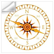 Compass rose Wall Decal