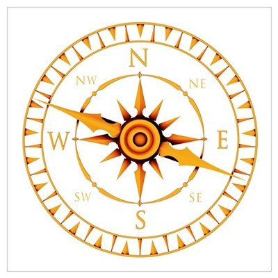 Compass rose Poster