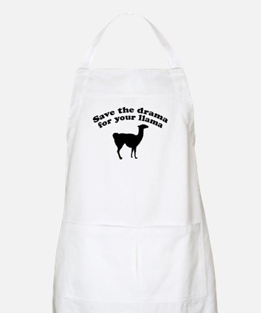 Save the Drama for your Llama BBQ Apron