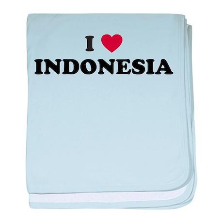 I Love Indonesia baby blanket
