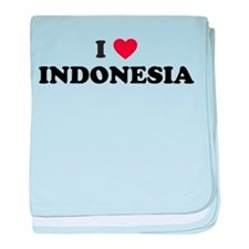 I Love Indonesia baby blanket