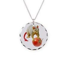 Devil Squirrel Stealing Tomato Necklace