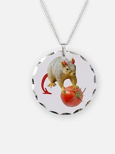 Devil Squirrel Stealing Tomato Necklace