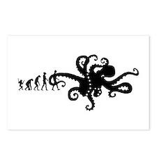 Evolution of Man Joke - Octopus Postcards (Package