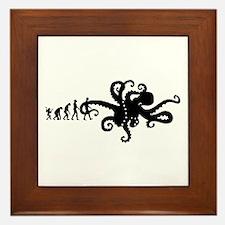 Evolution of Man Joke - Octopus Framed Tile