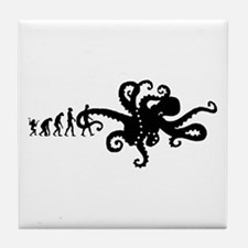 Evolution of Man Joke - Octopus Tile Coaster