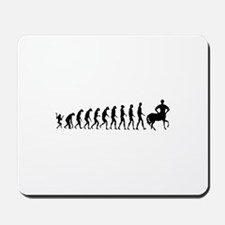 Evolution of Man Joke - Centaur Mousepad