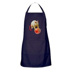Devil Squirrel Stealing Tomato Apron (dark)