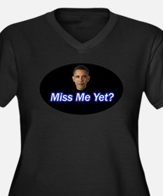 Miss Me Yet? Women's Plus Size V-Neck Dark T-Shirt