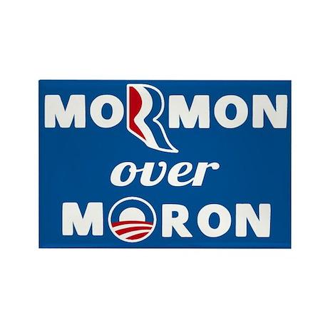 Mormon Over Moron Rectangle Magnet