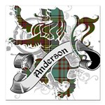 Anderson Tartan Lion Square Car Magnet 3